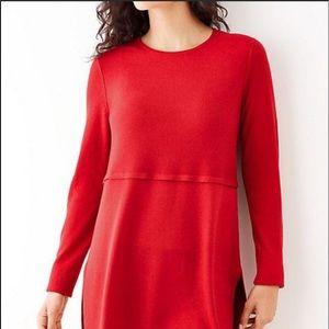 Christmas red j Jill tunic sweater
